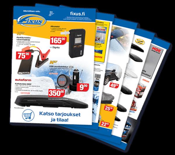 Uusimmasta Fixus-tarjouslehdestä löydät autoilijan parhaat tarjoukset vuoden ympäri.