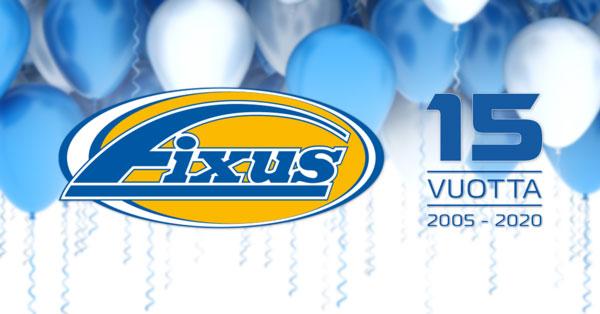 Fixus-ketju viettää 15-vuotissynttäreitään 14.10.2020 asti.